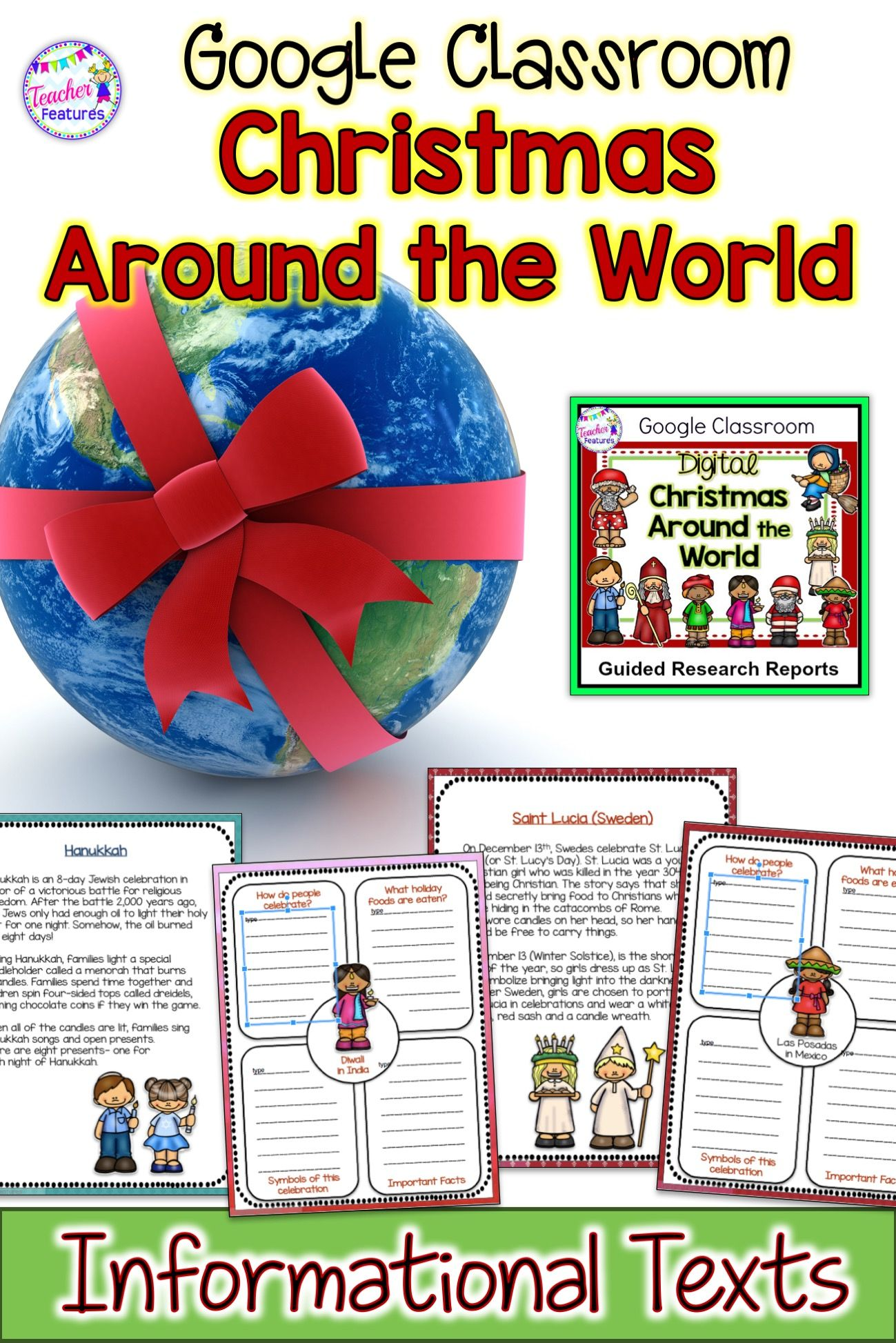 For Classroom Christmas Around The World Research