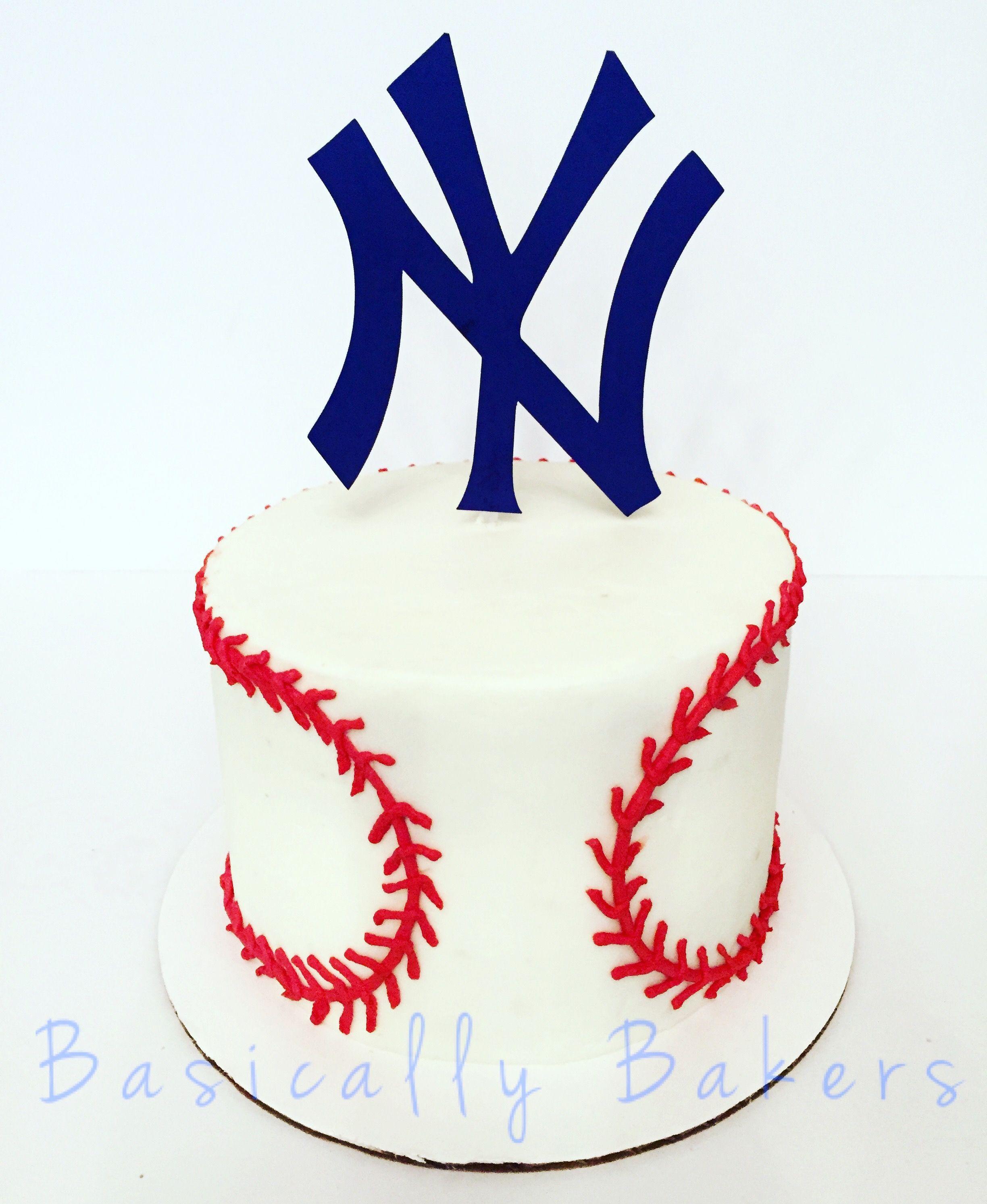Yankees Cake Baseball Cake New York Yankees Party