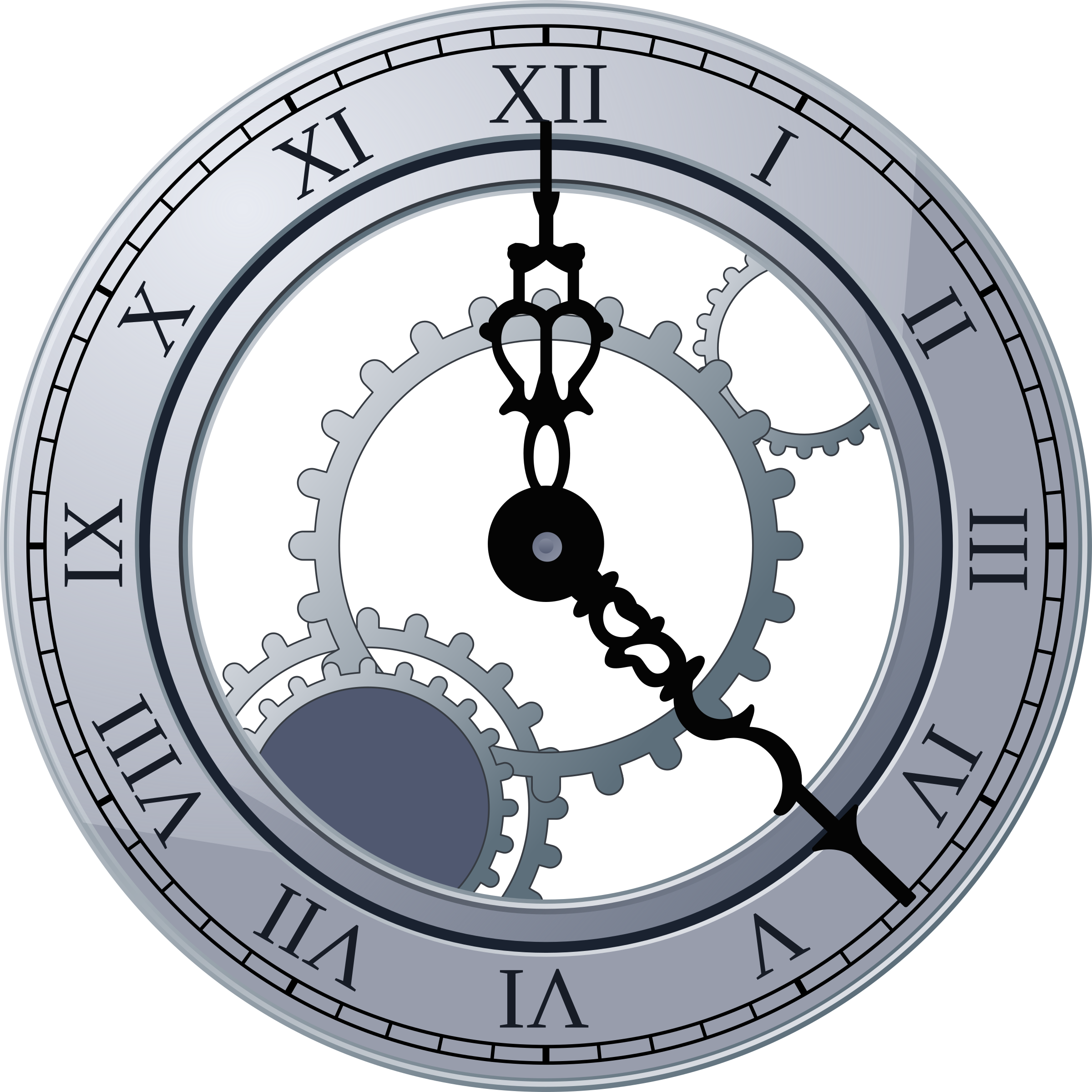 Roman Clock by miga03, Fancy clock, on openclipart