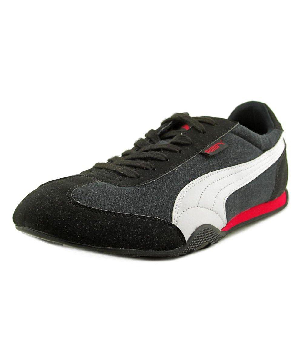PUMA Puma 76 Runner Canvas Men Round Toe Canvas Black Sneakers .  puma   shoes  sneakers 1382cf08d