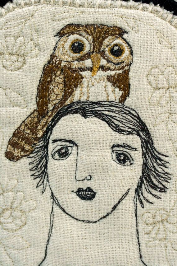 owl friend (machine embroidery) by Karen Drayne | Embroidery ...