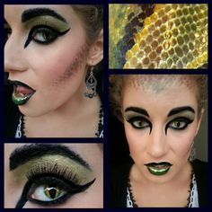 Medusa Makeup Two Tone Lips And