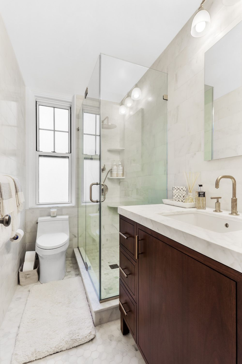 A Leak Leads To A Luxe Remodel Bathroom Renovation Trends Cottage Style Bathrooms Bathroom Vanity Trends