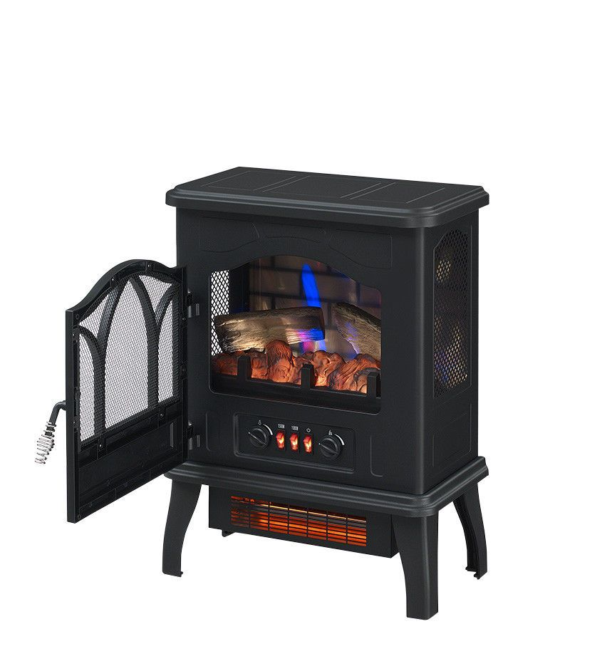 Chimneyfree Electric Infrared Space Heater Black 611768096015 Ebay Fireplace Heater Electric Fireplace Heater Free Standing Electric Fireplace