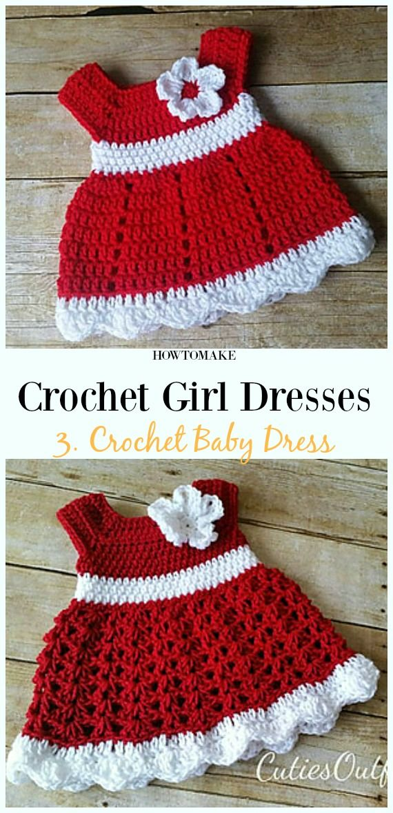 Summer Girl Dress Free Crochet Patterns Knitcrochet Ideas