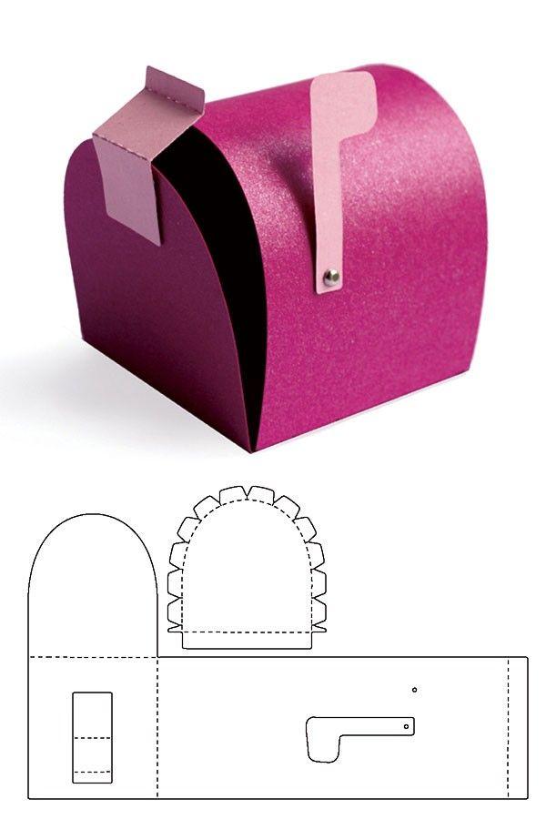 Ink Stains Mini Mailbox Template Instructions Diy Mail Valentine Cardboard Valentine Mailbox