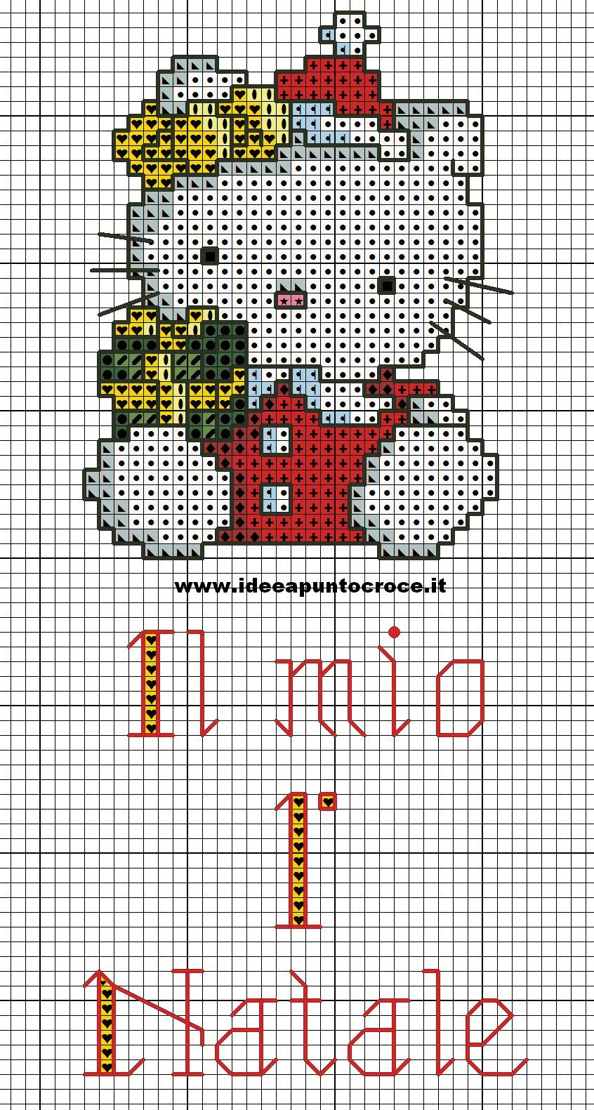 schema hello kitty primo natale | NATALE | Pinterest | Punto de cruz ...