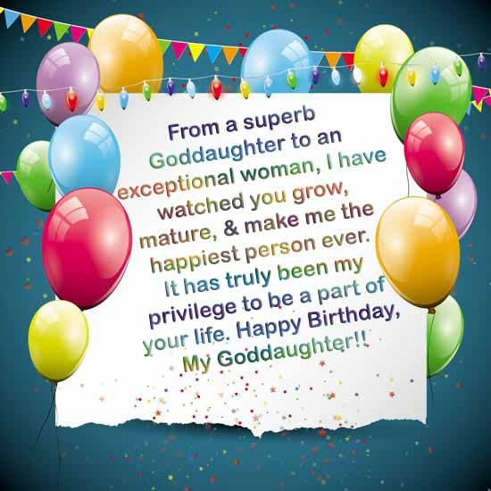 Birthday Quotes Goddaughter: Have A Look To The Best Birthday Wishes For Your