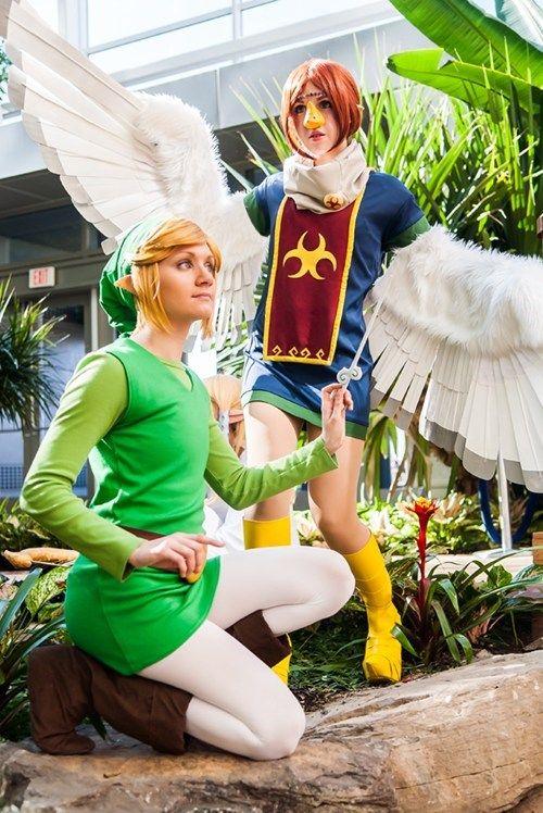 Medli and Link exploring Dragon Roost Island (Legend of Zelda: The Wind  Waker)