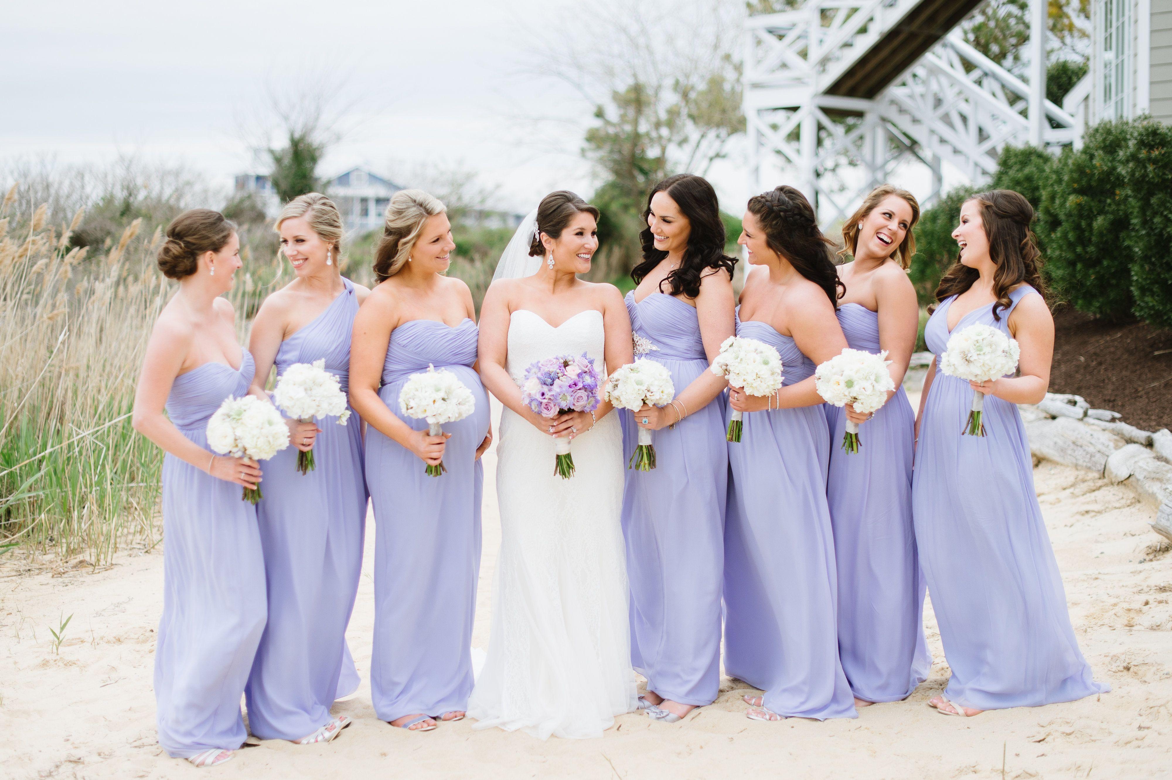 dd1793d549b0 Donna Morgan Iris bridesmaid dresses // Donna Morgan wedding // Purple  bridesmaids //