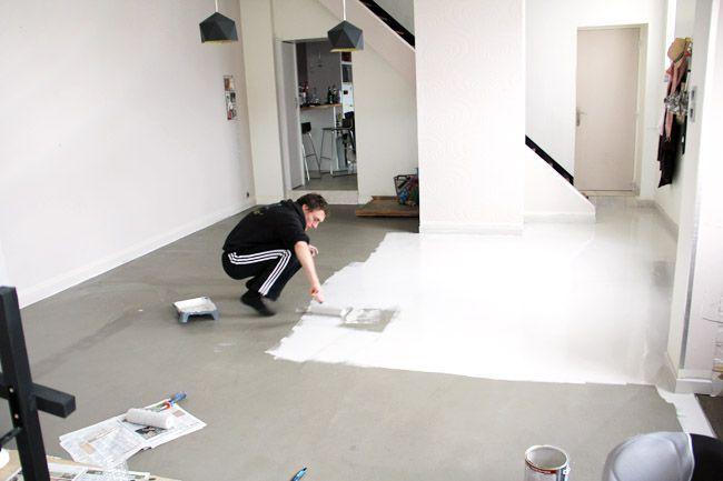 J 39 ai test pour vous une alternative au b ton cir peu for Peut on peindre son carrelage au sol