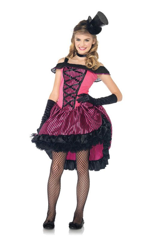 Cancan Girl Teen Costume for Halloween - Pure Costumes