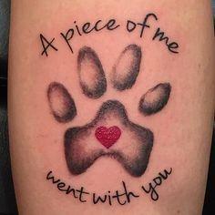 Cute Little Memorial Piece Pawprint Tattoo Dog Memorial Tattoos Dog Tattoos