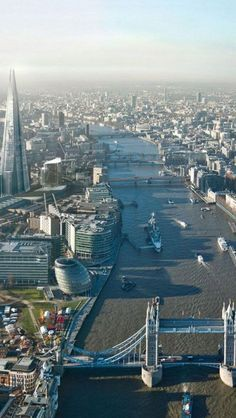 The River Thames, London, England -- with the Shard on the left -- new architecture on the riverside