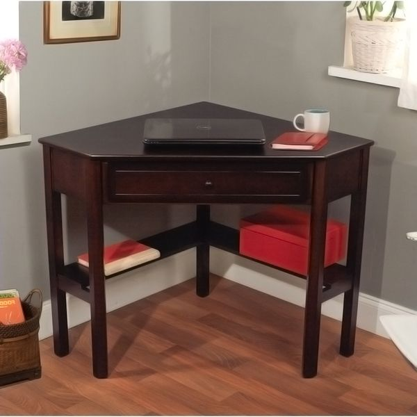 Simple Living Espresso Corner Writing Desk Ping Great Deals On
