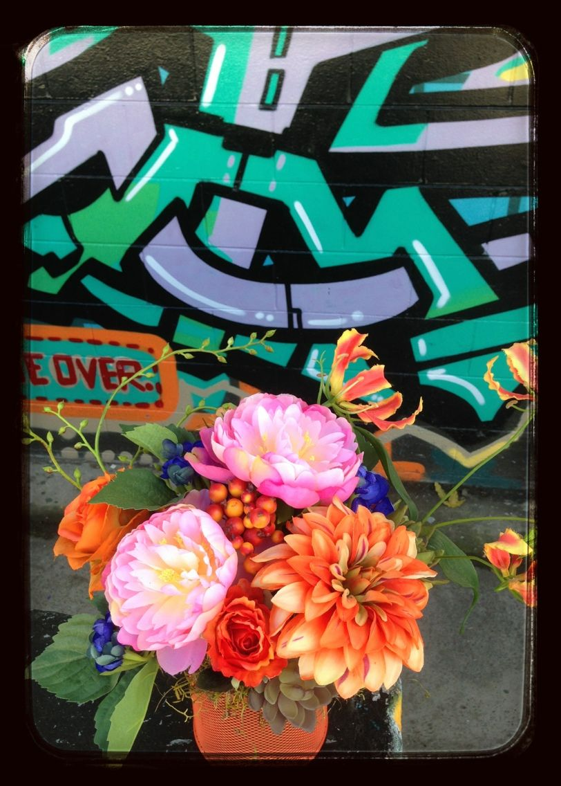 giving silk flowers some street cred
