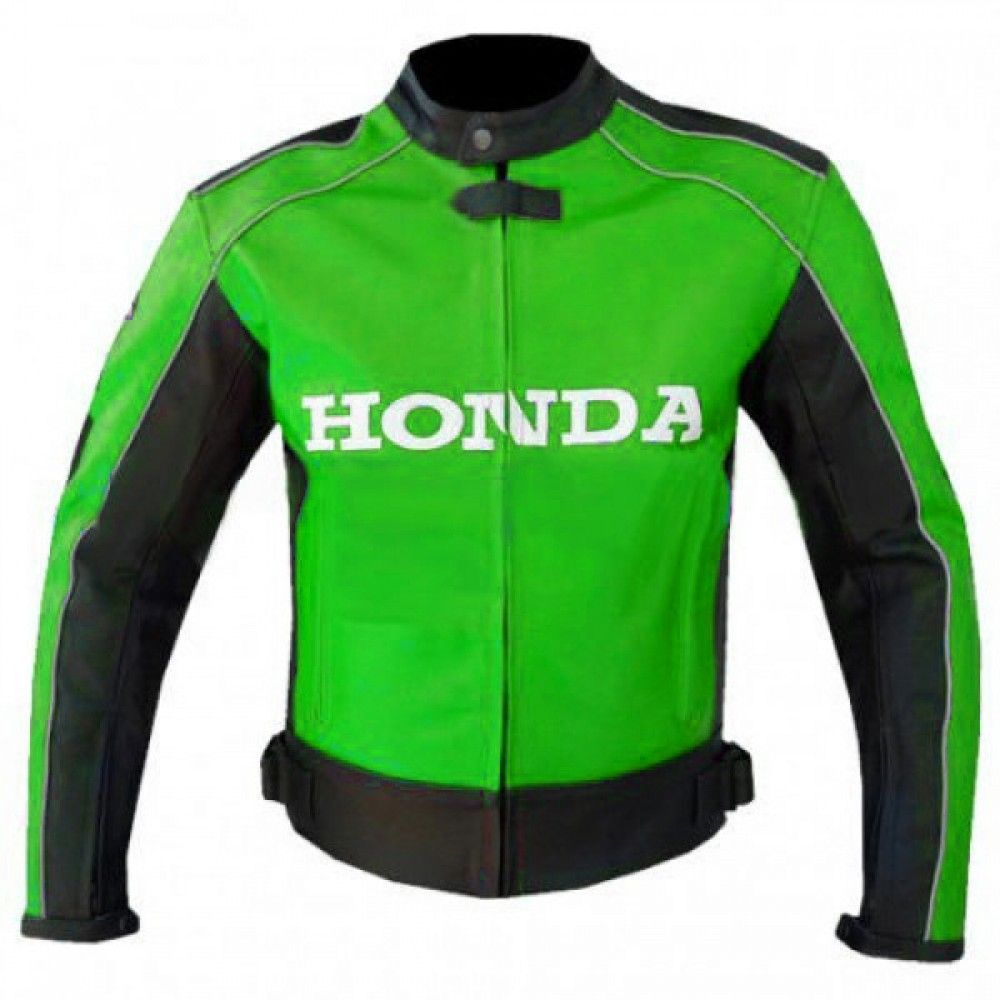 Honda Rocket Green Biker Leather Motorbike Jacket