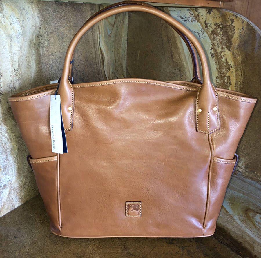 0e0f42e7229 New~Dooney   Bourke Florentine Large Leather Kirsten Kristen Tote~Natural