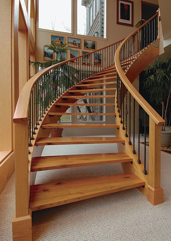 Laminating Curved Stair Stringers Curved Staircase Stairs And Doors Staircase Design