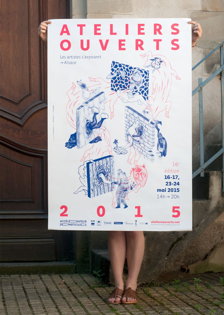 """Global identity for an event organized by """"Accélérateur de Particules"""" a contemporary art association in charge of artists' promotion and…"""