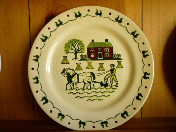 Homestead Provincial Poppytrail Plate California Made by classy10