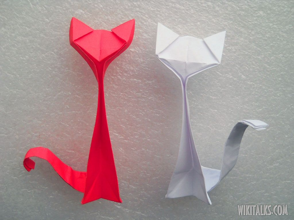 A Cute Origami Cat -It's a Box Too (Version 2 of 2) | 768x1024
