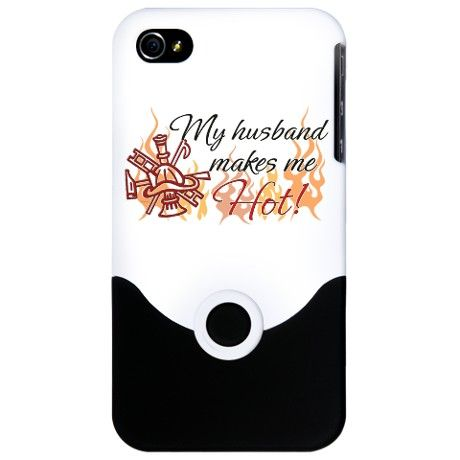 Husband makes me Hot! iPhone Case on CafePress.com