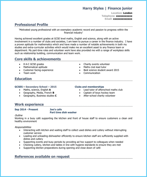 A Cv Template For A Student With Images Cv Template Student