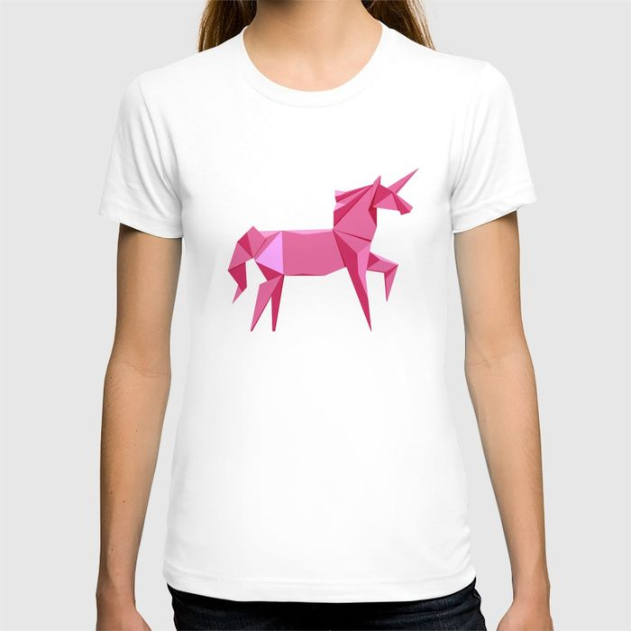 Photo of Origami Unicorn T-shirt by staskhabarov