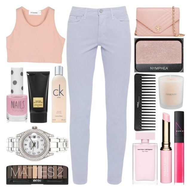 """♡; Casual Everyday Outfit"" by its-quite-complicated ❤ liked on Polyvore featuring Tory Burch, NARS Cosmetics, Sephora Collection, Clarins, Tom Ford, Swarovski, Calvin Klein, Topshop, Rolex and Fabrizio Gianni"