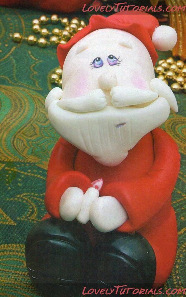 Gumpaste (fondant, polymer clay) Santa Claus figure sculpting tutorial