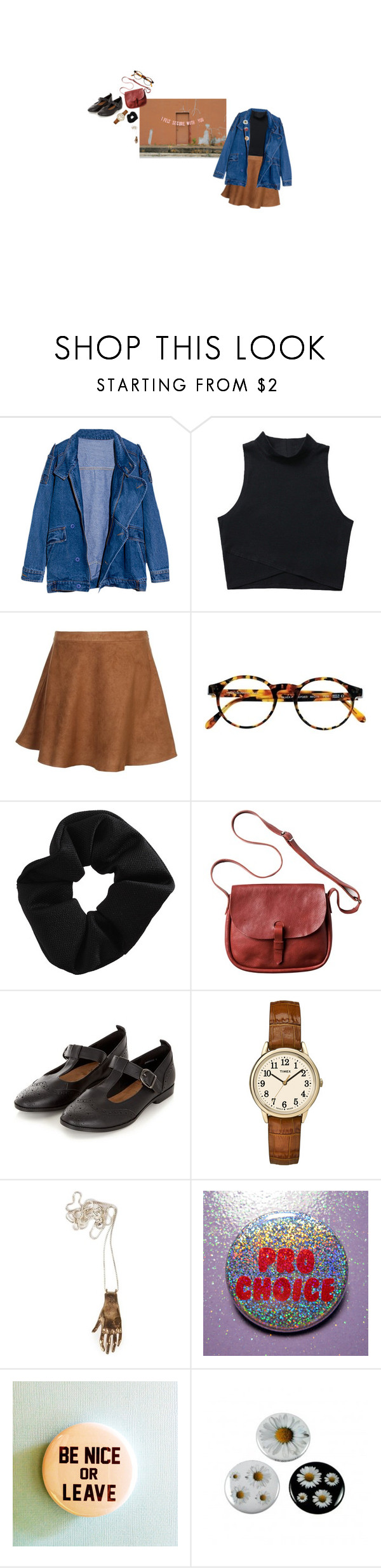 """Give me a beat to smash the patriarchy to"" by fiercelyfloral ❤ liked on Polyvore featuring New Look Inspire, François Pinton, Topshop, Toast and Timex"