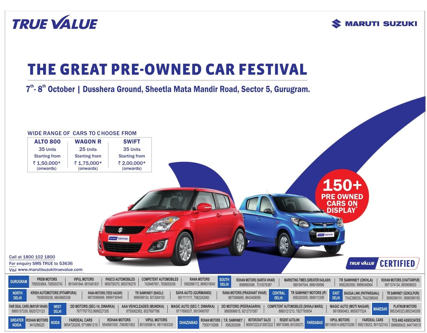 Maruti Suzuki True Value The Great Pre Owned Car Festival Ad Delhi Times Check Out More Car Advertisement Collection At Https Www Suzuki Car Advertising Car