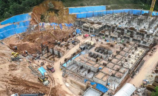 Tuesday, Oct. 24, 2017: A landslide at a construction site at Tanjung Bungah, which is a suburb of George Town in Penang in NW Malaysia, on Saturday killed 11 site workers. The slide, which occurred at the construction sit…