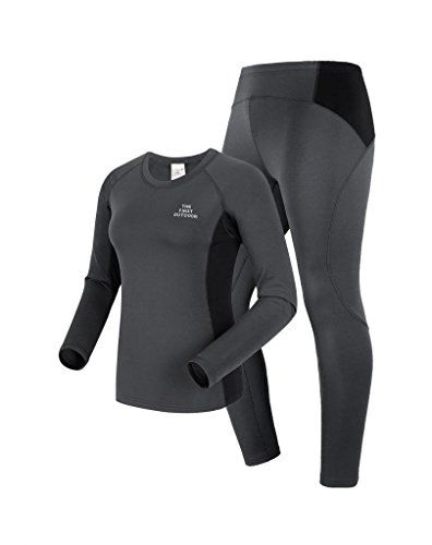 96557be29590 The First Outdoor Womens Thermal Underwear Set Size 4 US Gray ** Read more…