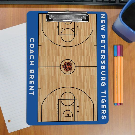 ChalkTalk Basketball Custom Wood Court Coaches Dry Erase
