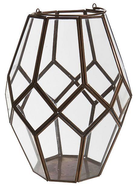 Kobber lykt geometrisk kobber H26cm fra Mestergrønn. Om denne nettbutikken: http://nettbutikknytt.no/mestergronn-no/