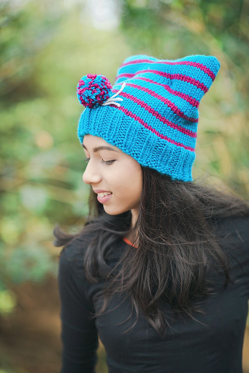 Cat Hat Knitting Pattern to make the cutest Cat Ear Beanie ...