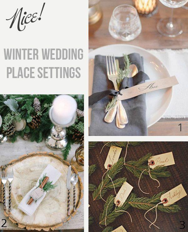 Winter Wedding Place Settings | Wedding place settings, Wedding ...