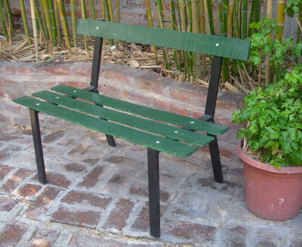 Banco De Plaza Jard N Desarmable De Ca O Y Madera Sillo Park  # Muebles Tajonar
