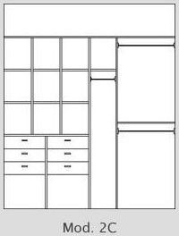 Interiores de placard a medida en melamina, pudiendo elegir en amplio catalogo de colores y accesorios.