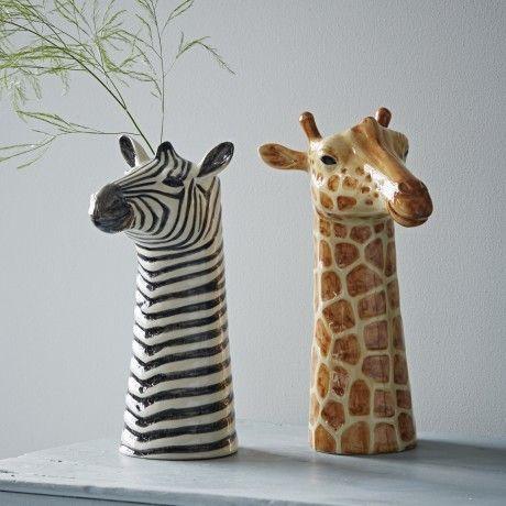 Quail Ceramics Animal Vase Giraffe Trouva T O O L