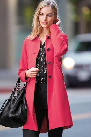 Buy Pink Swing Coat - 780-133 | Next UK | My High Street Style ...