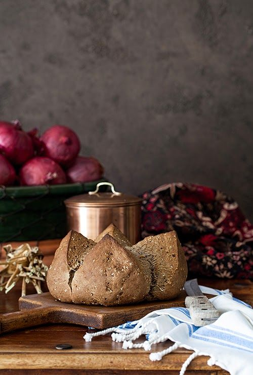 Brown Soda Bread with Buckwheat Flour & Molasses at Cooking Melangery #bread