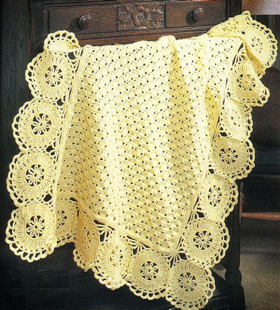 Instant PDF Download Vintage Crochet Pattern to make A | mantas bebe ...