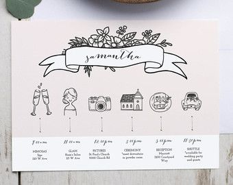 printable wedding timeline template wedding itinerary timeline