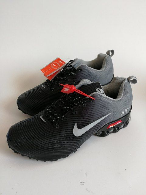 Mens Nike Air Shox KPU Black Wolf Grey Footwear | Air max
