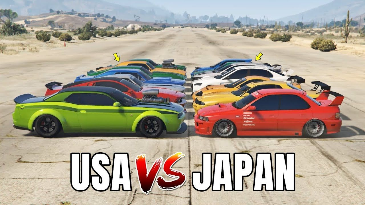 Gta 5 Online Usa Vs Japan Which Is Fastest In 2020 Gta 5