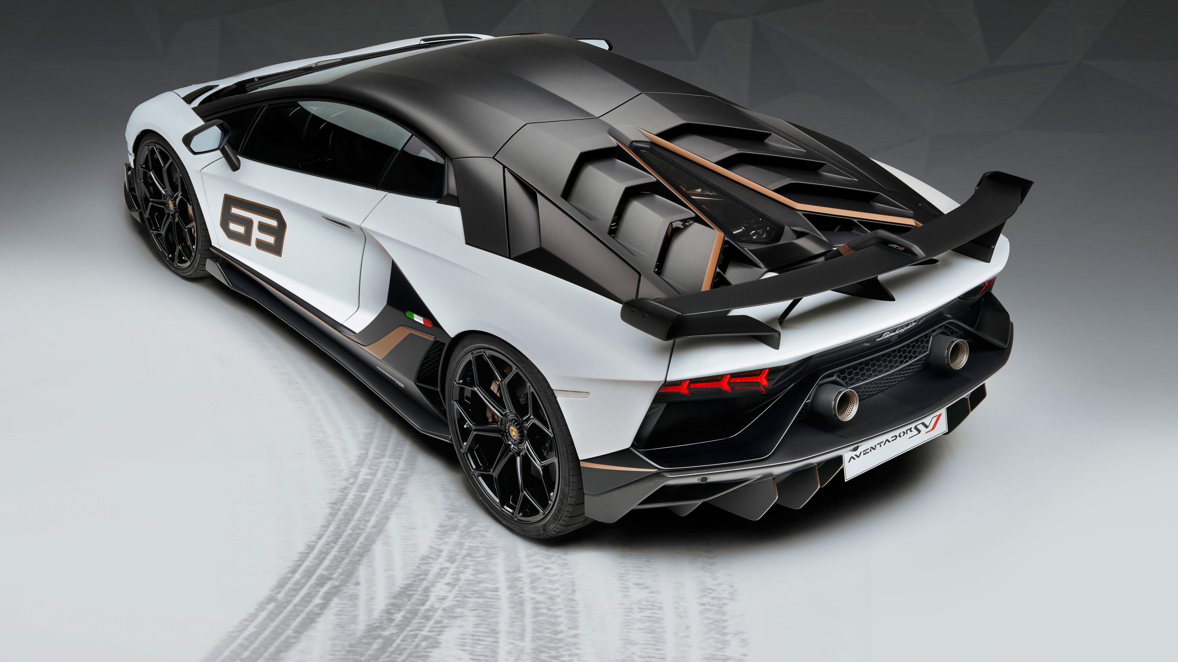 Lamborghini Aventador SVJ 63 2018 Rear lamborghini wallpapers, lamborghini avent…