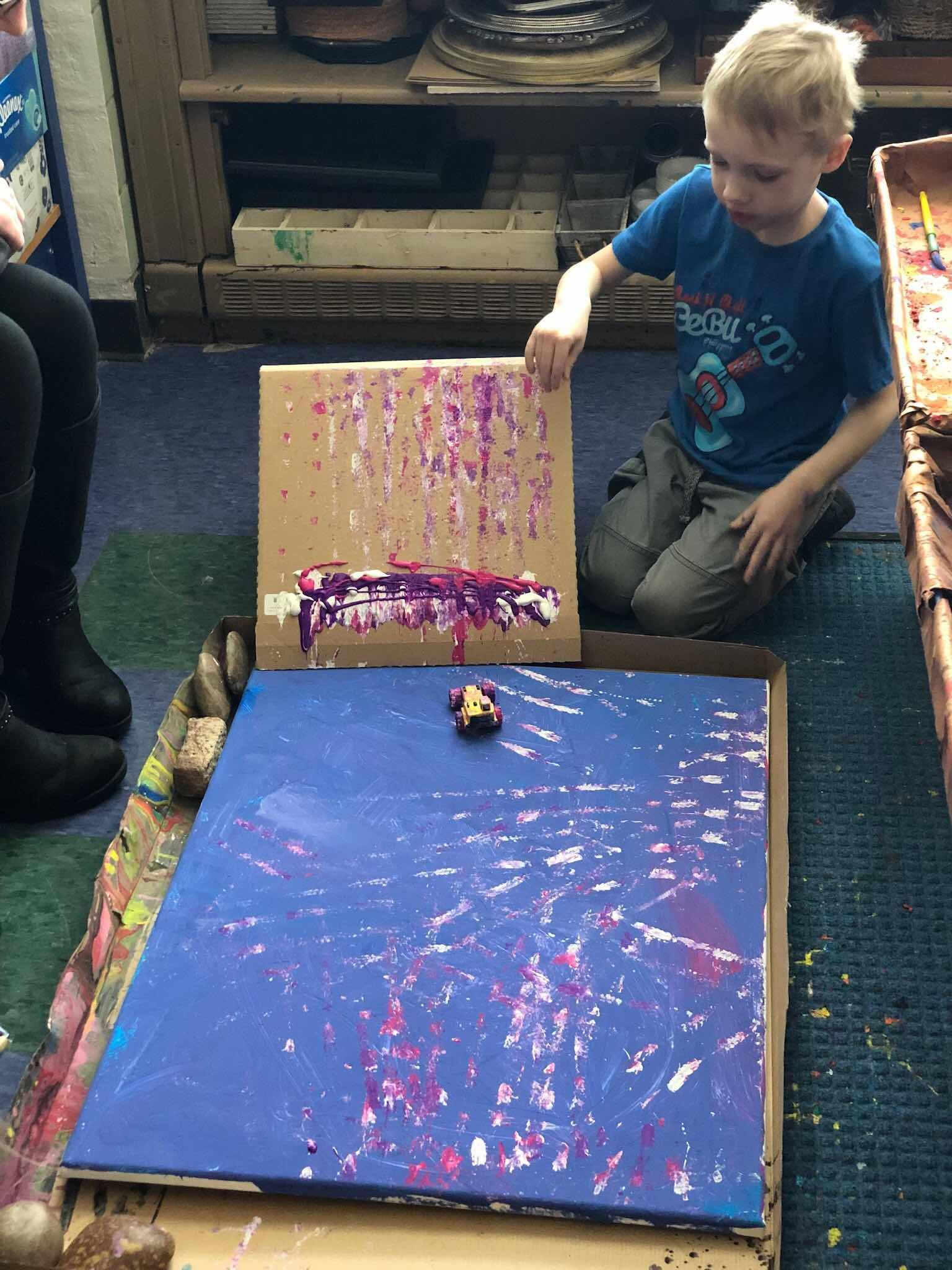 A Collaborative Art Piece Exploring Force And Motion Force And